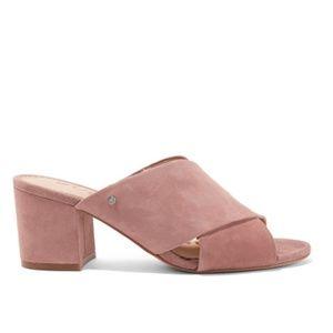 Sam Edelman pink suede sandals
